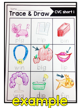 Trace and Draw CVC Words