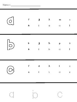 Trace and Find Letters