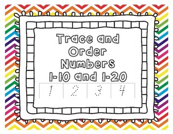 Trace and Order Numbers Activity
