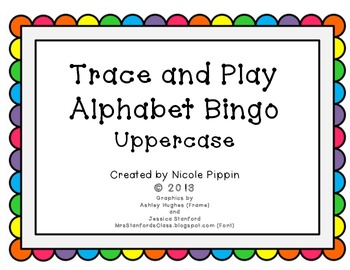Alphabet Bingo Trace and Play - Uppercase