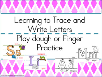 Trace and Play Dough Mats