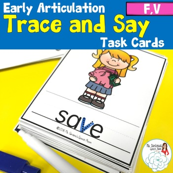 Trace and Say: Articulation F and V