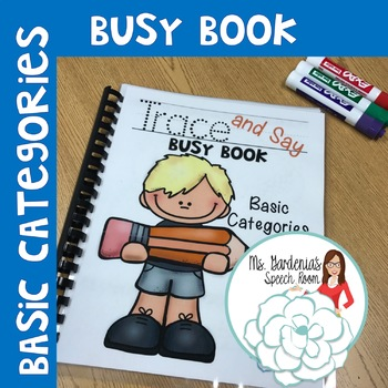 Trace and Say Busy Book: Categories