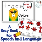 Trace and Say Busy Book for Speech and Language: Colors