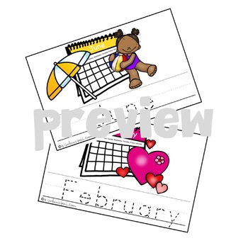Trace and Say Busy Book for Speech and Language: Months