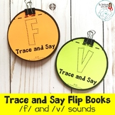 Trace and Say Flip Books: F and V Sounds