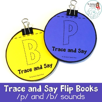 Trace and Say Flip Books: P and B Sounds