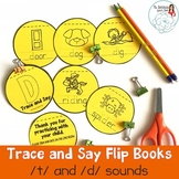 Trace and Say Flip Books: T and D Sounds