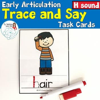 Trace and Say: H Sound Freebie