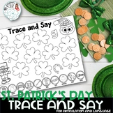 Trace and Say Worksheets: St. Patrick's Day Themed Speech