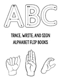 Trace and Sign Alphabet Flipbooks (Combo Pack)