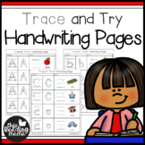 Trace and Try Handwriting Pages