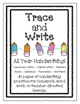 Trace and Write - All Year Handwriting