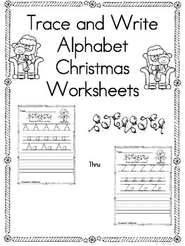 Trace and Write Christmas Worksheets