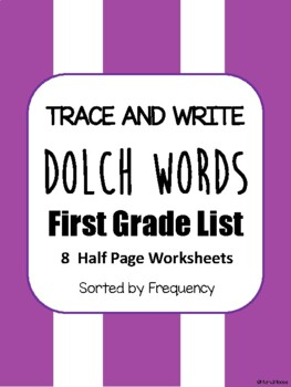 Trace and Write Dolch Words--First Grade