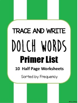 Trace and Write Dolch Words--Primer