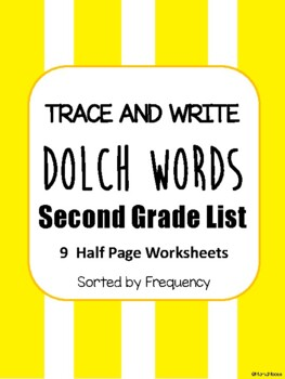 Trace and Write Dolch Words--Second Grade