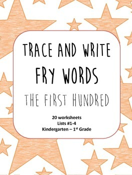 Trace and Write Fry Words--The First Hundred Words