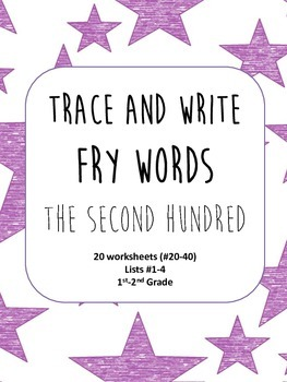 Trace and Write Fry Words--The Second Hundred Words