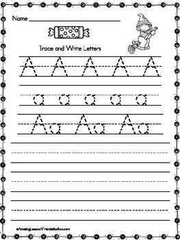 Trace and Write Halloween Worksheets