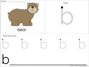 Trace and Write Handwriting Letter Practice Worksheets