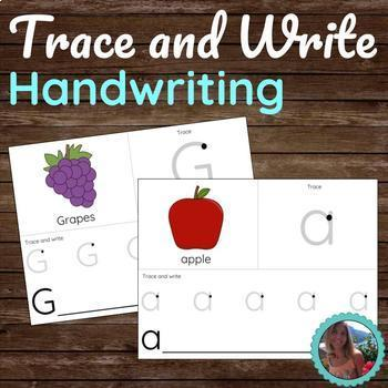 Alphabet Trace and Write Handwriting - Letter Practice Worksheets