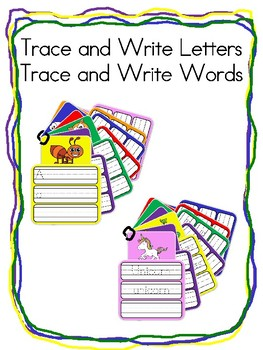 Trace and Write Letters and Words