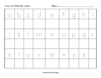 Trace and Write My Letters A-Z, a-z, Aa-Zz