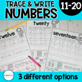 Number Writing Math Practice Pages 11-20 | Distance Learning | Teen Numbers
