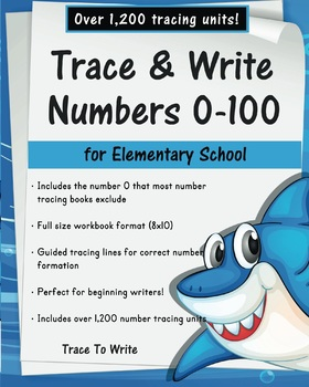 Trace and Write Numbers 0-100 for Elementary School
