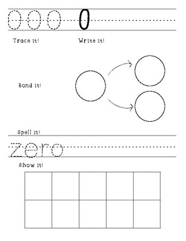 Trace and Write, Numbers 0-20!