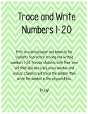 Trace and Write Numbers 1-20