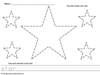 Trace and Write Shape Worksheets  (NO PREP)
