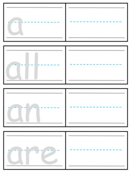 Trace and Write Sight Words