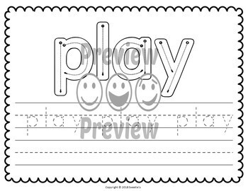 Trace and Write Sight Words - Dolch PreK