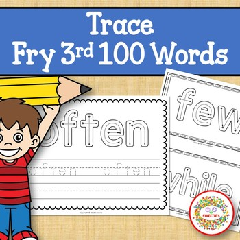 Trace and Write Sight Words - Fry 3rd 100