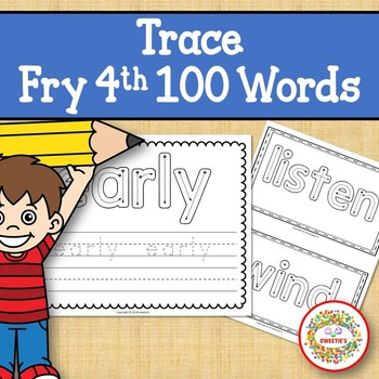 Trace and Write Sight Words - Fry 4th 100
