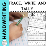 Handwriting Practice for Kindergarten and First Grade Trace, Write, Tally