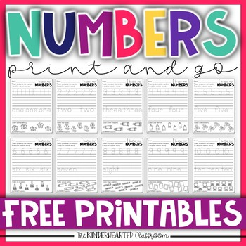 Trace and Write my Numbers FREEBIE
