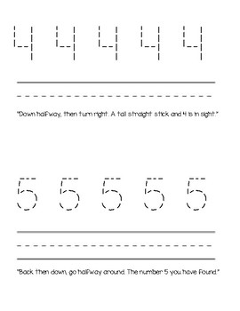 Trace and Write numbers 0-10 Activity Booklet
