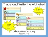 Trace and Write the Alphabet