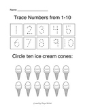 Trace and count numbers 1-10