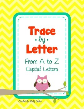 Trace by Letter (Capital) - Alphabet