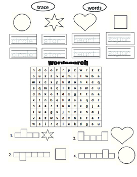 Trace , color and wordsearch game