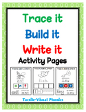 Trace it, Build it, Write it Activity Pages - Tactile-Visual Phonics