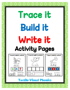 Trace it, Build it, Write it Activity Pages - Tactile-Visu