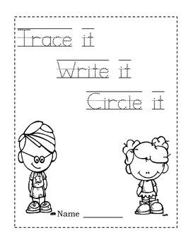 Trace it!  Write it!  Circle it! ~ Sight Word Worksheets  List 2