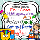 Trace it, Write it, Color it, Circle it...First Grade High Frequency Words