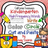 Trace it, Write it, Color it, Circle it...Kindergarten High Frequency Words