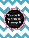 Trace it, Write it, Stamp it Spelling list word work - Reading street